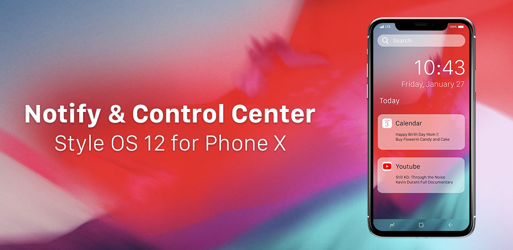 تحميل iNotify - Control Center for Phone X style OS 12 أية بي كيه