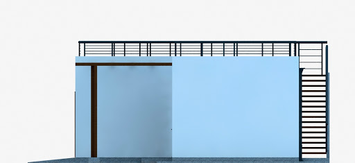 G353 - Budynek garażowo-gospodarczy - Elewacja prawa