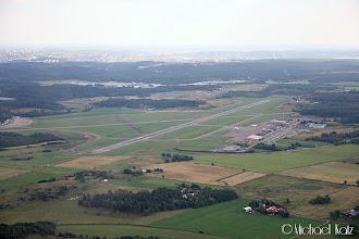 Photo: Etter take-off fra Göteborg City Airport på vei til Aalborg Airport i Danmark.