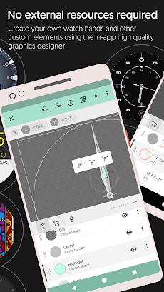 Watch Face - Pujie Black - Wear OS & Galaxy Watchのおすすめ画像3