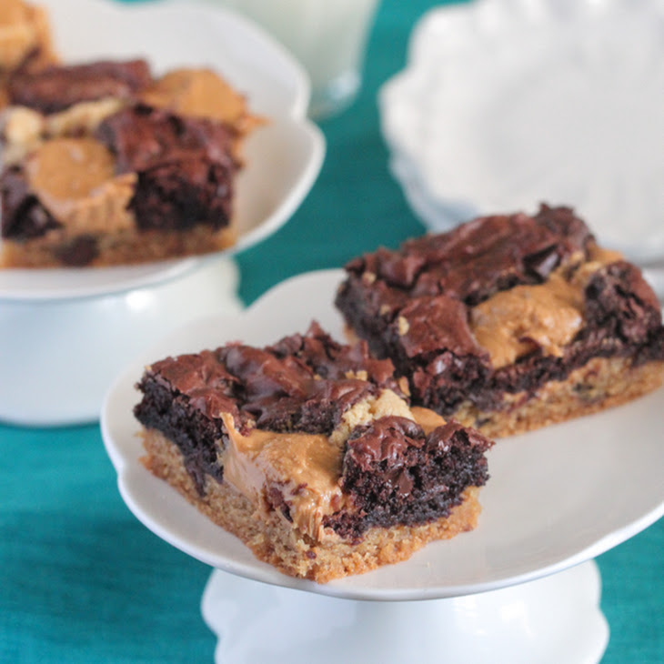 Chocolate Chip Peanut Butter Truffle Brookies
