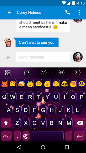 Glare -Love Emoji Keyboard