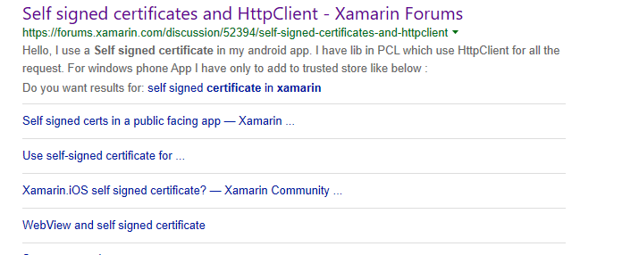 DevEnvExe Com/Xamarin: SSL Certificate And Public Key