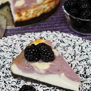 Blackberry Swirl Cheesecake