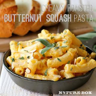 Creamy Butternut Squash Pasta.