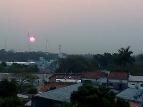 Photo: 気が付くと夕日がずいぶん左寄りになった