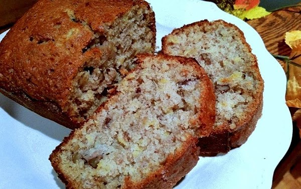 ~ Scrumptious Pineapple Banana Nut Bread ~ Recipe