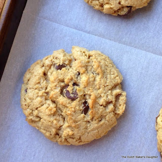 Oatmeal, Peanut Butter, and Dark Chocolate Cookies.