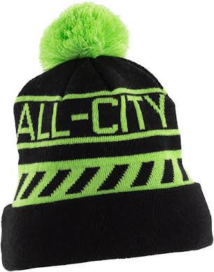 All-City Sleddin' Hat: Black/Lime Green alternate image 2