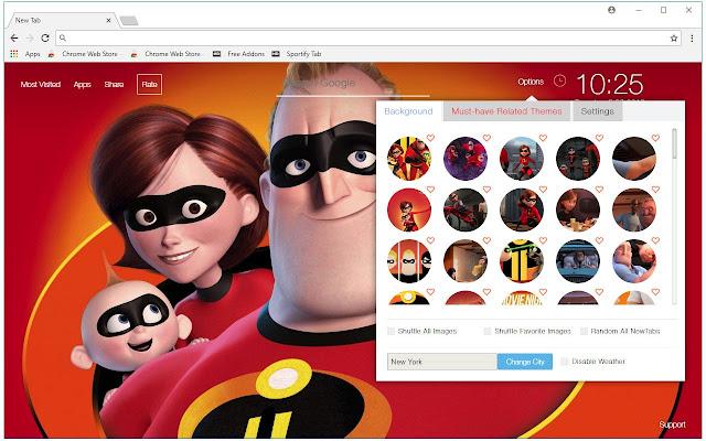 The Incredibles 2 Wallpapers HD Custom NewTab