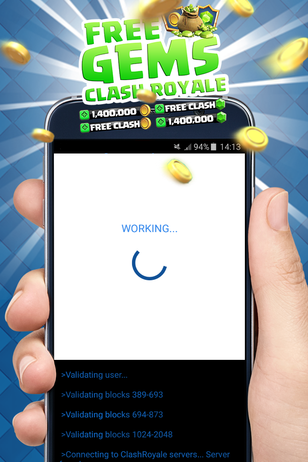 Gems for Clash Royale . Prank- screenshot