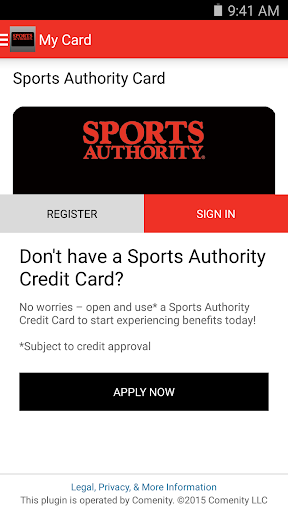 Sports Authority Card App