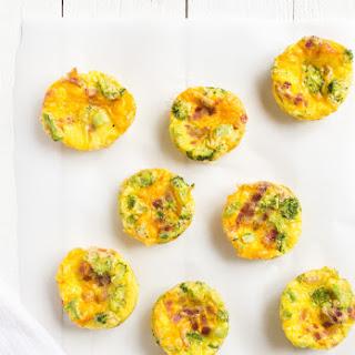 Broccoli Cheddar Mini Frittatas.