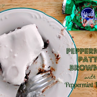 Peppermint Patty Brownies with Peppermint Frosting.
