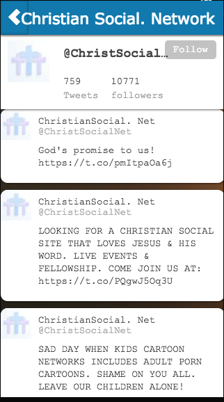 Christian Social. Network- screenshot