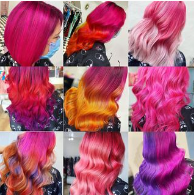 pink and purple hairstyles