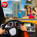 City Taxi Driving Cab 2018: Crazy Car Rush Games icon