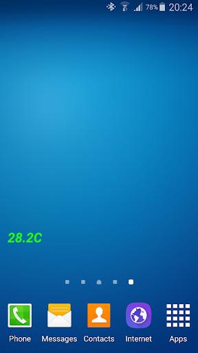 温度センサウィジェット