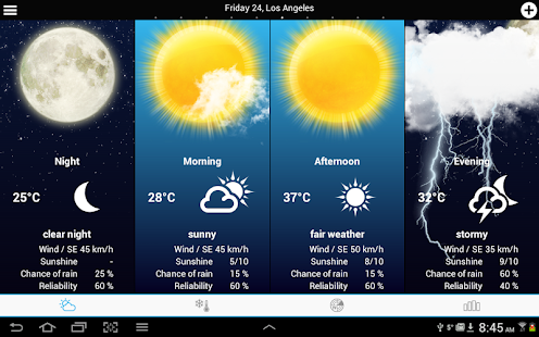 USA Weather forecast screenshot for Android