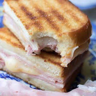 Grilled Cheese Ham Sandwich.