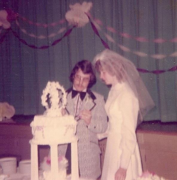 Photo: Bob and Phylis' wedding reception