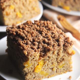 Peach Streusel Coffee Cake.