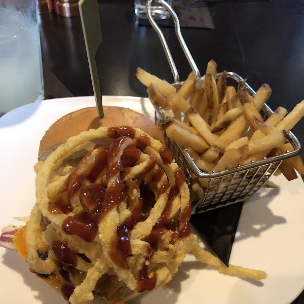 The delicious gluten free pulled pork sandwich!