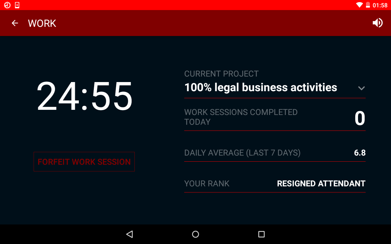 Productivity Challenge Timer- screenshot