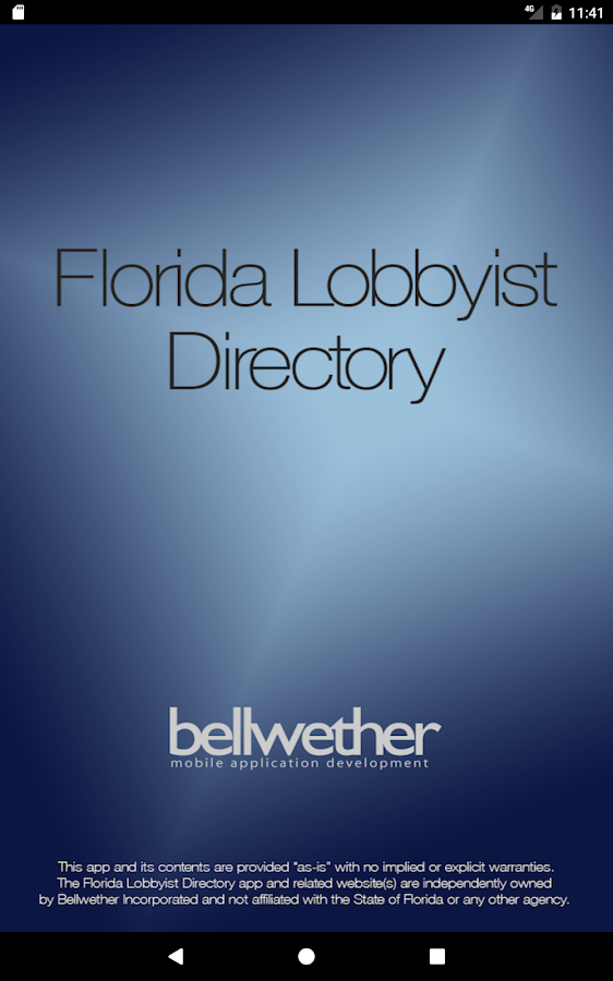 Florida Lobbyist Directory- screenshot