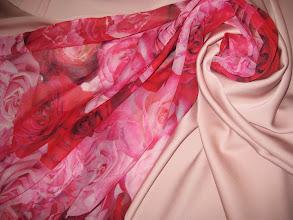 Photo: Ткань:Шифон натуральный шелк ш.140см. цена 2900руб.