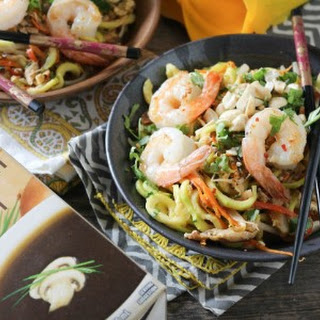 Shrimp and Zucchini Pad Thai