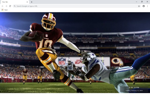 Washington Redskins New Tab