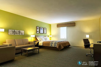 Photo: Hotel Room Rendering done at ARY Studios