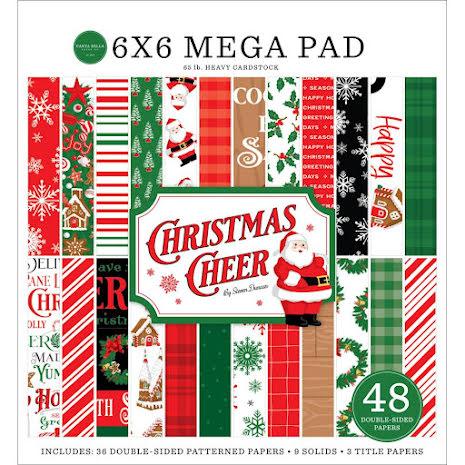 Carta Bella Double-Sided Mega Paper Pad 6X6 - Christmas Cheer