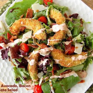Crispy Avocado Bacon & Tomato Salad