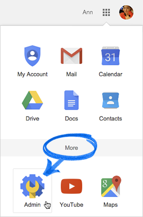 how to use google admin console