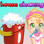 Princess game for kids- baby house cleaning games icon