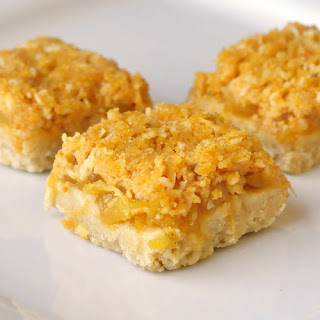 Orange Pineapple Crumble Bars.