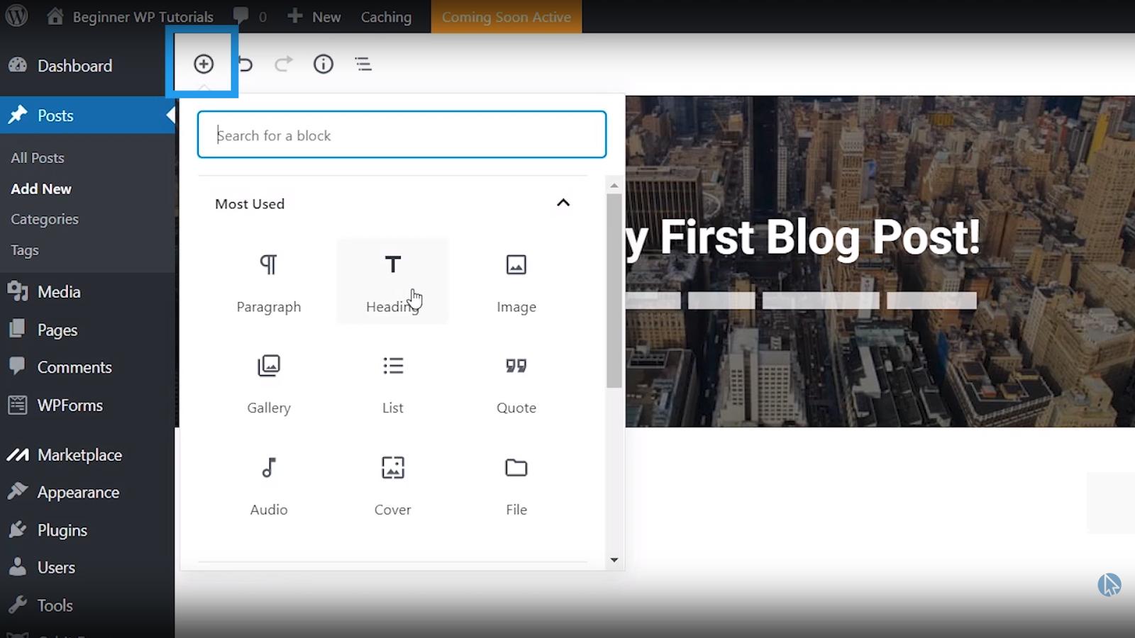 types of blocks wordpress tutorial for beginners