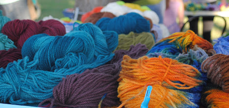 Photo: Yarn for sale at Whitefish MT Farmers Market