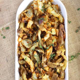 Potato Skin Topped Garlic Mashed Potatoes.