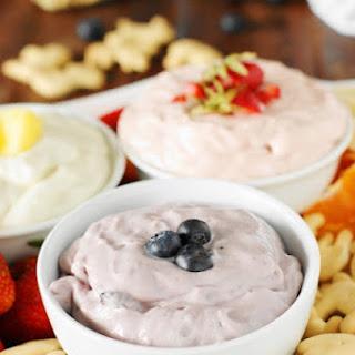 Easy Fruit Dip {Just 2 Ingredients, 3 Flavors}