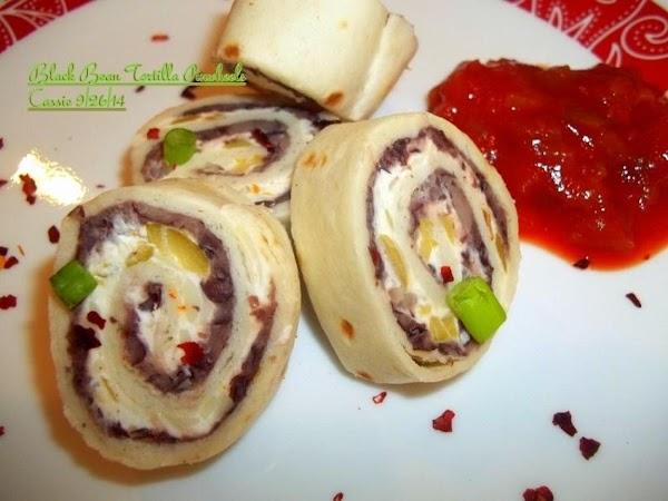 Black Bean Tortilla Pinwheels Recipe