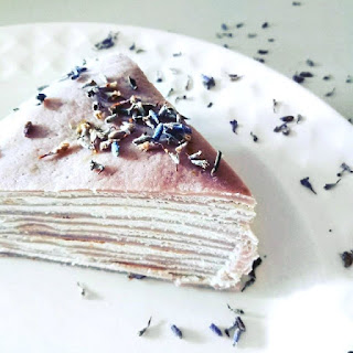 Lavender Crepe Millefleur Cake Recipe