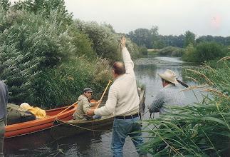 Photo: 1985 (Ems): Vorbereitungen vor der Weiterfahrt