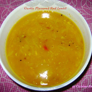 Masoor Dal (Garlic Flavored Red Lentil)