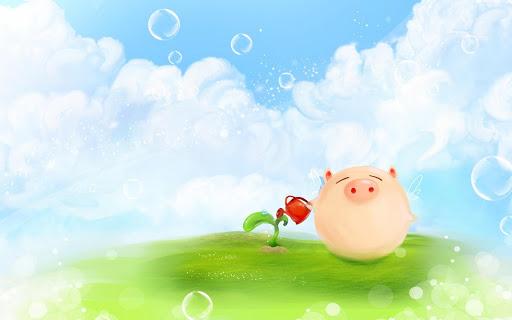 Cute Pig Live Wallpaper