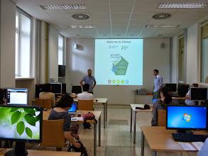 Photo: The School was co-organized by Jürg Schönenberger (left) and myself (right).