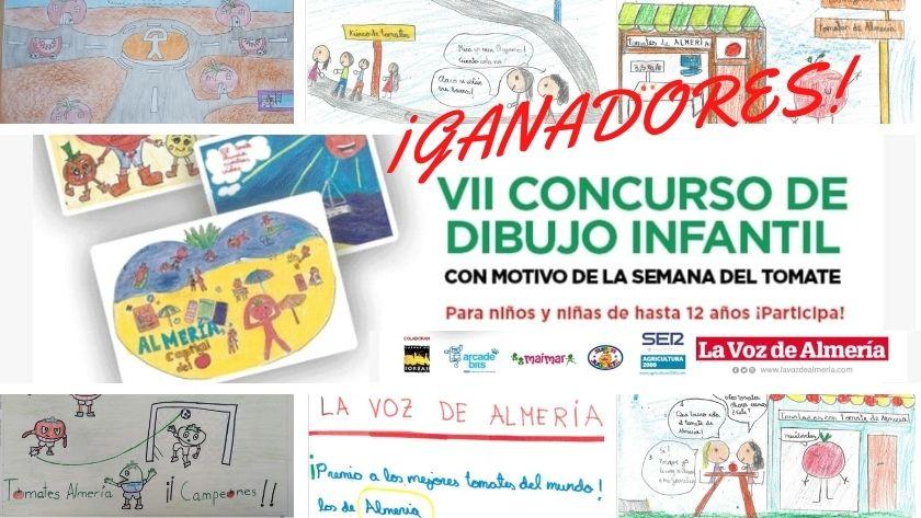 Un centenar de niños y niñas participan en el VII Concurso de Dibujo Infantil con el tomate almeriense de protagonista.