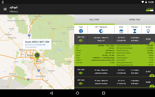 Speed test 3G, 4G LTE, WiFi & network coverage map- screenshot thumbnail